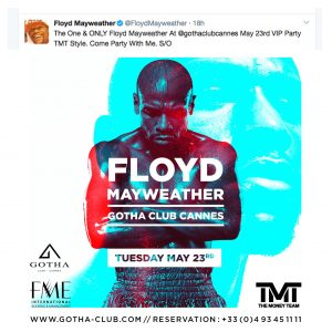 booking floyd mayweather boxer